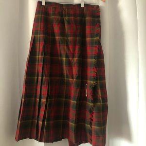 Highland queen vintage 100% wool kilt